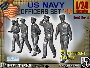 1-24 USN Officers Set1-16 in White Strong & Flexible