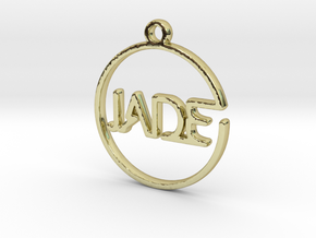 JADE First Name Pendant in 18k Gold Plated Brass