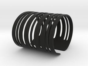 Bands Bracelet (Size L) in Black Strong & Flexible