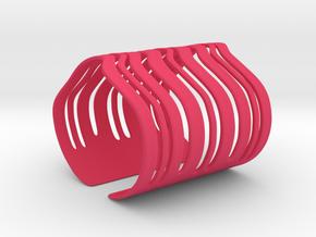 Strands Bracelet (Size L) in Pink Processed Versatile Plastic