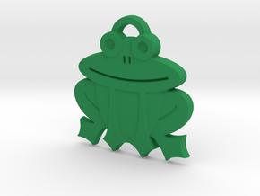 Frog Pendant in Green Processed Versatile Plastic