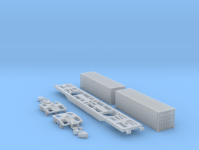 Containertragwagen Sgnss mit 2x 30ft Wingliner in Smooth Fine Detail Plastic