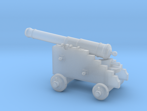 18th Century 6# Cannon-Naval Carriage 1/96 in Smooth Fine Detail Plastic