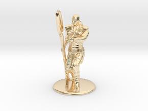 Jaffa Guard Firing his Zat - 20mm tall in 14k Gold Plated Brass