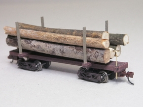HOn3 Logging Car C in White Natural Versatile Plastic