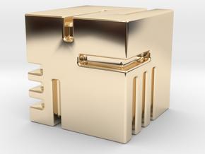 Modern Dice in 14k Gold Plated Brass