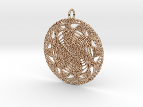 Emir's Wind Pendant in 14k Rose Gold Plated Brass