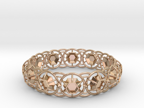 Bracelet 6 in 14k Rose Gold Plated Brass