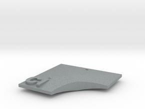 Ci Pendant in Polished Metallic Plastic