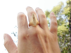 Star ring in Natural Brass