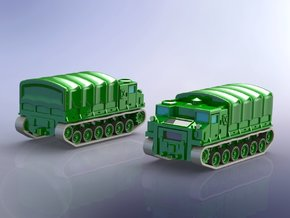 US M8E1 High Speed Tractor / Carrier 1/285 in Smooth Fine Detail Plastic