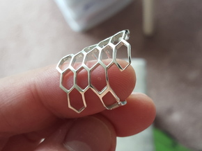 HoneyComb Ring4 in Polished Silver