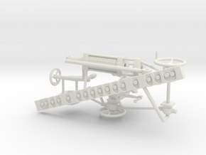 1/16 M7 Priest Gun Parts in White Natural Versatile Plastic