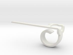 P-Aimer Pokemon Go Aimer for Left-Handed in White Natural Versatile Plastic
