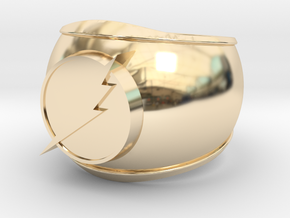 Flash Ring in 14k Gold Plated Brass