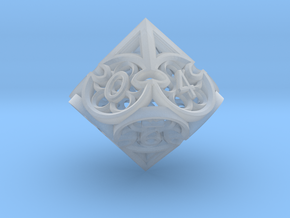 Gothic Rosette d10 in Smooth Fine Detail Plastic
