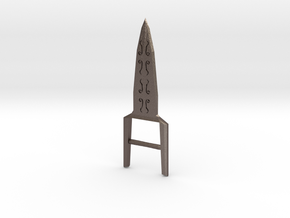 Katar in Polished Bronzed Silver Steel