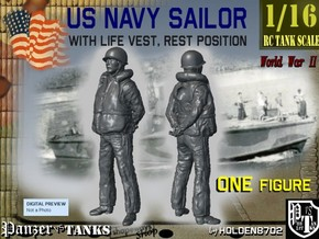 1/16 US Navy Sailor Lifevest Rest in White Strong & Flexible