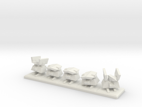 TA Construction Kbot Squad - 1cm tall in White Strong & Flexible