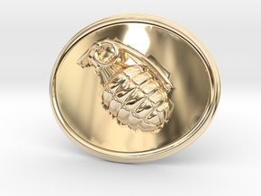 Booommm Belt Buckle in 14k Gold Plated Brass