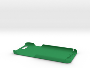 Cover for iPhone 6 (engraved logo and text) in Green Strong & Flexible Polished