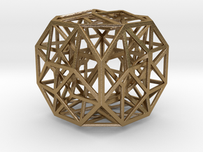 """The Cosmic Cube 2.7"""" in Polished Gold Steel"""