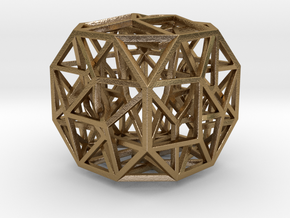 """The Cosmic Cube 1.6"""" in Polished Gold Steel"""