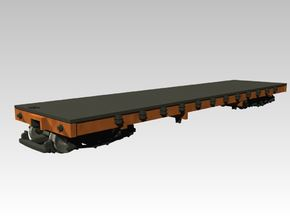 HOn30 Flat Car, B&SR in Smooth Fine Detail Plastic