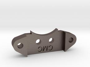 CMC Servo Horn Bracket in Polished Bronzed Silver Steel
