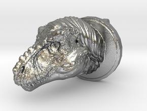 Trex Head2 Cufflink in Natural Silver