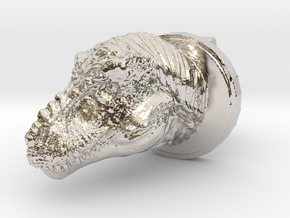 Trex Head2 Cufflink in Platinum