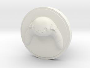 Lu Cufflink in White Natural Versatile Plastic