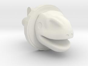 Rano Cufflink in White Natural Versatile Plastic