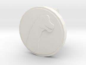 Sauroposeidon Cufflink in White Natural Versatile Plastic