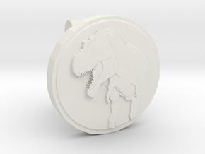 T-rex Cufflink in White Natural Versatile Plastic
