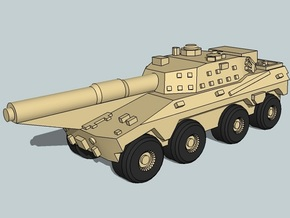3mm SADF Rooikat 105 MBT (12 pcs) in Smooth Fine Detail Plastic