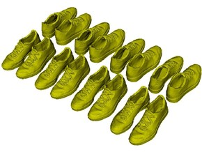 1/35 scale sneaker shoe pairs x 8 in Frosted Extreme Detail