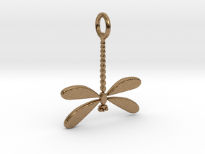 Dragonfly Pendant in Natural Brass