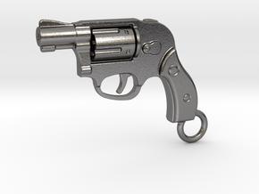 Bodyguard Gun Keychain in Polished Nickel Steel