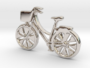 Bicycle No.1 Pendant and Keychain in Platinum