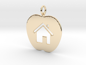 House Keychain and Pendant in 14K Yellow Gold