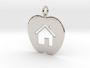 House Keychain and Pendant in Platinum