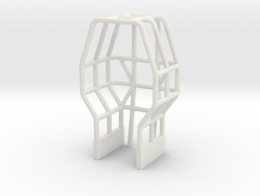 1/64 Pro Stock Tractor Roll Cage in White Natural Versatile Plastic