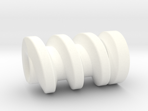 TM02 Gripper Worm Gear in White Strong & Flexible Polished