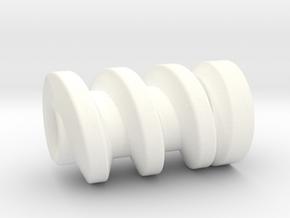 TM02 Gripper Worm Gear in White Processed Versatile Plastic