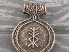 Protection Pendant in Polished Bronze Steel