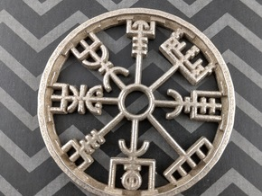 Vegvisir Pendant in Stainless Steel