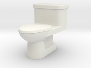 WC 1/ 64 Scale in White Natural Versatile Plastic