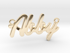 "Name Pendant - ""Abby"" in 14k Gold Plated Brass"