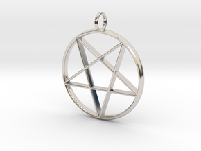 Eastern Star Pendant in Rhodium Plated